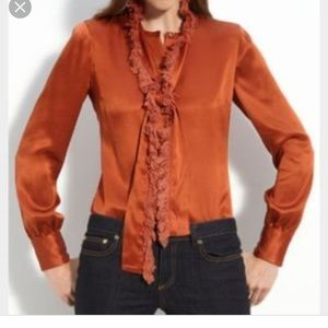 Tory Burch waverly blouse with detachable scarf